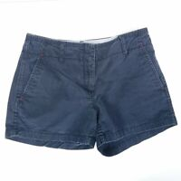 Tommy Hilfiger Shorts Solid Navy Blue Chino Bottoms Mid Length Womens Size 6