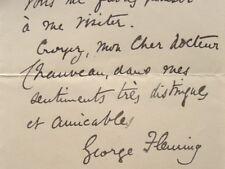 Le vétérinaire George Fleming félicite son confrère Chauveau.