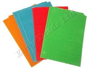 8 x A4 Corrugated Card Bright Funky Colours Card Making School Kids Art Craft