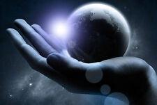 Incorniciato stampa-il mondo nel palmo della tua mano (foto poster arte moderna)