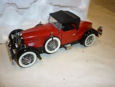 A Franklin mint model of  a 1926 Stutz Black hawke boatail speedster . ( NMB )