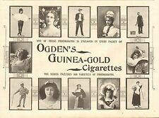 1896 antica stampa-Pubblicità-Ogden 's Guinea Gold-Stelle MUSIC HALL
