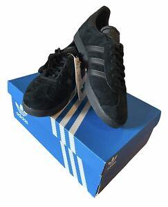 Adidas Originals Gazelle Trainers All Black Mens UK Size 9.5 BNWT