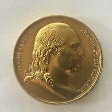 1814 Brass Guilded Medal Of King Louis XV111