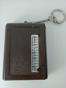VINTAGE PHONE NUMBER - ADDRESS BOOK KEYRING
