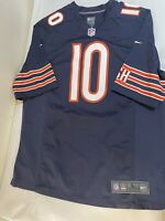 Mitch Trubisky Nike On Field Jersey Men's Size L Chicago Bears Home Navy NFL