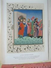 Vintage Print,YOUNG MOTHERS RETINUE,Parisian Costumes,14th Century,Costume