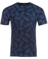 Club Room Mens Navy Blue Size 2XL Crewneck Pineapple Print Tee T-Shirt 042