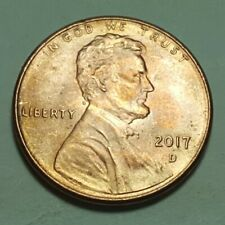 2017 D Lincoln Shield Red/Orange Toned Variety Brilliant Uncirculated 00004000  Coin