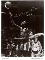 HUBERT GEESE AUSBIE SIGNED 8x10 PHOTO HARLEM GLOBETROTTERS LEGEND BECKETT BAS