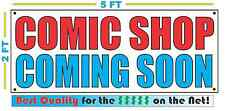 COMIC SHOP COMING SOON Banner Sign NEW Larger Size Best Quality for the $$$
