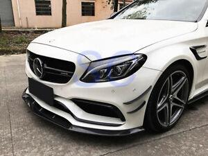 Mercedes Benz W205 C63 C63S Coupe Carbon Fiber Front Lip Spoiler