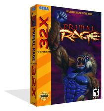 Primal rage sega 32x Remplacement Rechange Game Box Case + Housse Art Work-no game