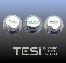 Tesi Stratocaster Knob Set - Chrome