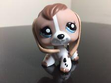 Littlest Pet Shop Beagle #2207 Tan White Beige Brown Beagle Dog Puppy Blue Eyes