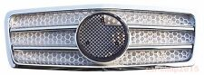 Mercedes Benz W210 Front Grille 1995-1999 Pre-Facelift Chrome&Silver AMG Style