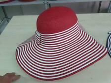 cappello rosso elegante cerimonia taglia unica  paglia hat cocktail donna mare