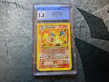 2000 Pokemon Charizard HOLO Card CGC 1.5 Fair Base Set 2 Unlimited 4/130
