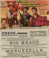 Año 1960. Programa de CINE. Título película: RIO BRAVO.