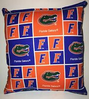 Florida Gators Pillow Football Pillow Gators Pillow NCAA HANDMADE In USA