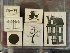 Stampin' Up HOME IS WHERE THE HAUNT IS Set of 6 Rubber Stamps Lot Halloween