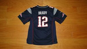 Nike Tom Brady New England Patriots Super Bowl XLIX Jersey Size L Youth Blue