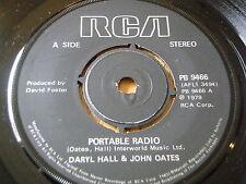 "DARYL HALL & JOHN OATES - PORTABLE RADIO     7"" VINYL"