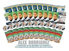 ALEX RODRIGUEZ NY Yankees State Quarters - Lot of 10 UNOPENED Coin Packs