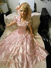 "Vintage 24"" Composition Boudoir cloth  doll with plastic limbs"