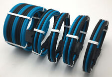 4 Curved Sleeved Extension + Cable Combs 24pin 8pin 4pin ATX CPU, 8pin 6pin PCIE