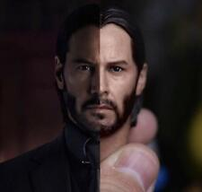 In-Stock Eleven 1/6 Scale Keanu Reeves John Wick Head Sculpt For Hot Toys
