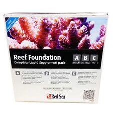 RED SEA Reef Foundation A B C Complete Liquid Treatment Marine Pack 3 x 250ml
