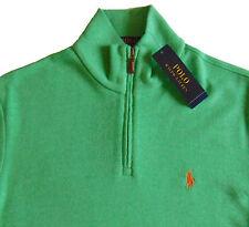 Men's POLO RALPH LAUREN Fresh Green Mock Zip Sweater XL X-LARGE NWT NEW $145+