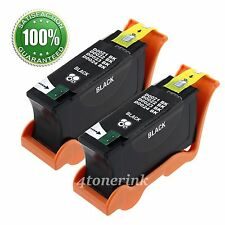 2pk Black Ink Cartridge for Dell Series 21 22 23 24 V515w V313w V313