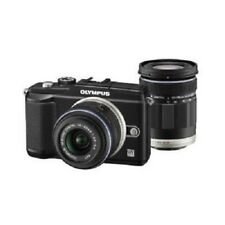 USED Olympus E-PL2 12.3MP with 14-42mm + 40-150mm Black Excellent FREE SHIPPING