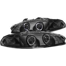 ANZO 1997-1999 Mitsubishi Eclipse Projector Headlights w/ Halo Black G2 - anz121