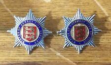 JERSEY & GUERNSEY FIRE BRIGADE Cap Badges