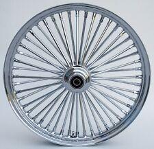 "Chrome 48 King Spoke 21"" x 2.15"" Narrow Glide Front Wheel For Harley XL & Dyna"