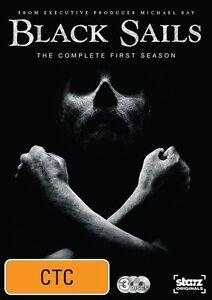 Black Sails : Season 1 (DVD, 2014, 3-Disc Set) Australian stock