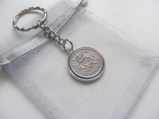 1951 Lucky Charm Sixpence Keyring & Gift Bag - Nice 68th Birthday Present