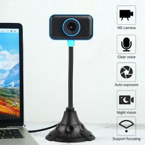 HD Web Cam Camera Webcam with Microphone USB 2.0 for PC Computer Laptop Desktop