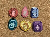 Disney Pin DLR 2008 Hidden Mickey Cast Lanyard Series Princess Gems Complete Set