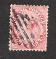 #14  - Canada -  1 Cent - used - F-  tare in upper right -  superfleas