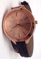 Michael Kors Women's MK2322 Slim 'Runway' Rose Dial Embossed Leather Watch