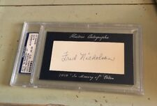 2010 HA HISTORIC AUTOGRAPHS IN MEMORY OF FRED NICHOLSON AUTO 26/29 PSA/DNA NICE
