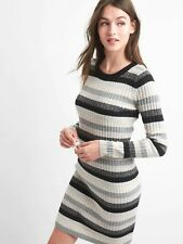 Gap Crazy stripe wool blend dress, Black/Grey Stripe SIZE XSP XS P  #925279 E327