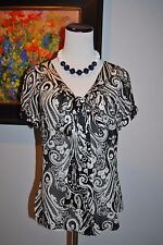 White House Black Market Spring Silk Floral Career Dress Top S Small