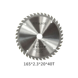 New 165mm 40T 20mm Bore Circular Saw Blade Disc for Wood Metal Cutter Tool