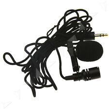 Mini Mic 3.5mm Tie Clip on Lapel Lavalier Microphone Wired Sport Running