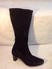 MANAS Design Black Knee High Suede Boots Size 41